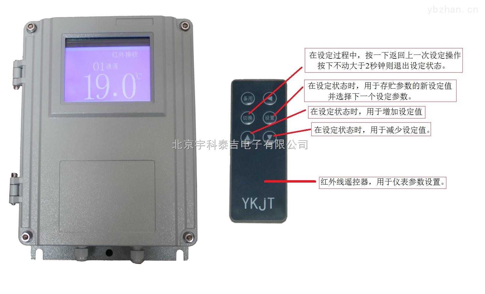 XZ-T20B-专业生产冷库温度,单总线DS18B20温度巡检仪,壁挂液晶屏幕同时显示