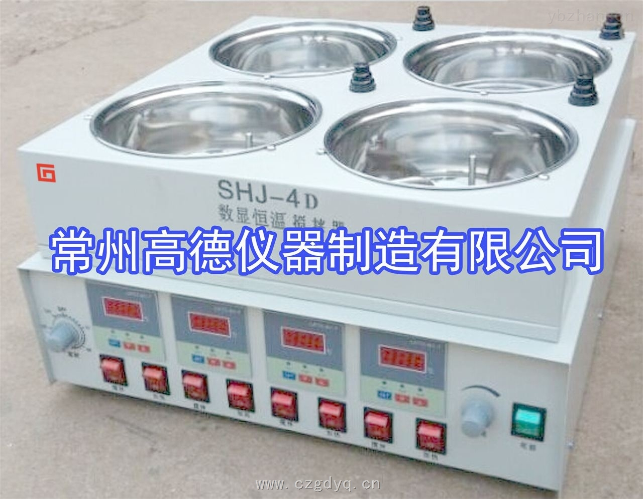 SHJ-4D-四倉恒溫水浴磁力攪拌器
