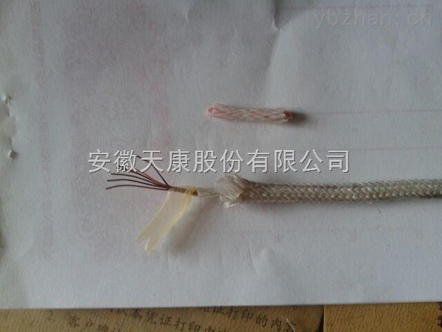 安徽天康高温玻璃纤维编织补偿导线KX-HF4BRP  2*1.0