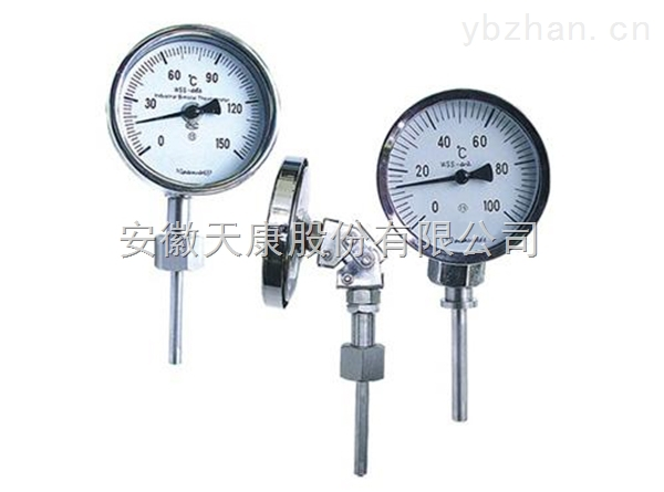 天康万向型双金属温度计WSS-586