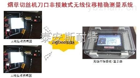 烟草切丝机刀口非接触式、无线位移精确测量系统