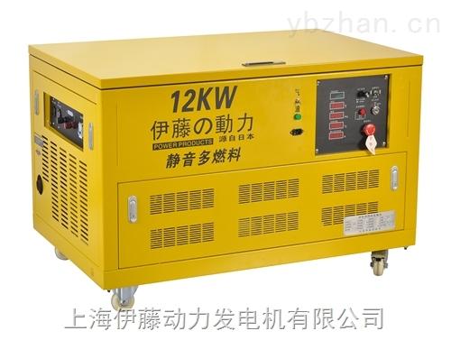 12千瓦带轮子全自动发电机