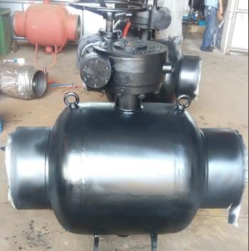 Q367F大口径固定全焊接球阀