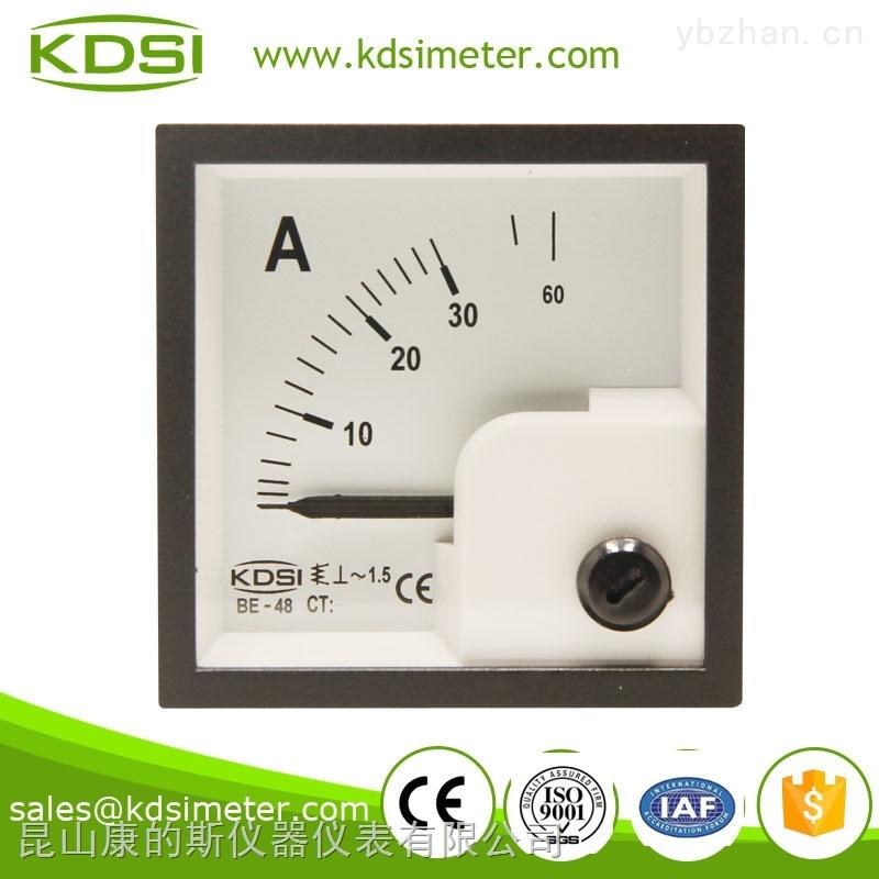 指针式交流电流表 be-48 ac30a直接式 可定制接互感器仪表