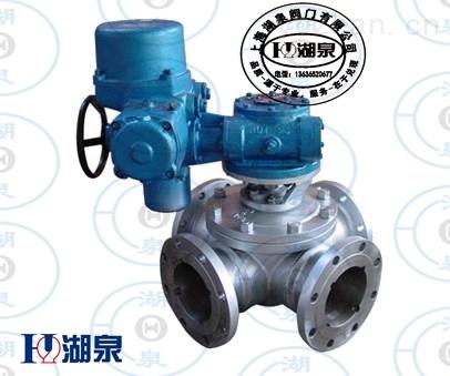 上海湖泉電動不銹鋼三通球閥設計構造