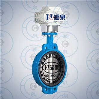 上海湖泉D971J型号电动衬胶蝶阀产品