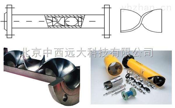 型號:YNT55-SK-50/100-管道靜態混合器 型號:YNT55-SK-50/100