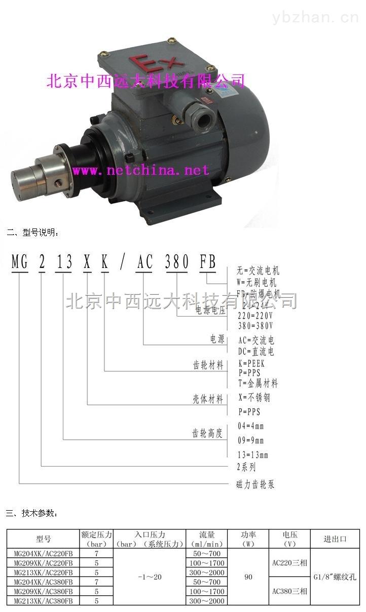 磁力齒輪泵-磁力齒輪泵