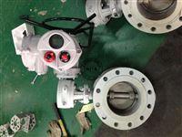 铸钢调节电动高温蝶阀