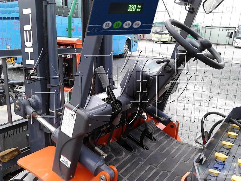 40吨柴油叉车加装电子秤|旌德县合力叉车加装称重系统厂家