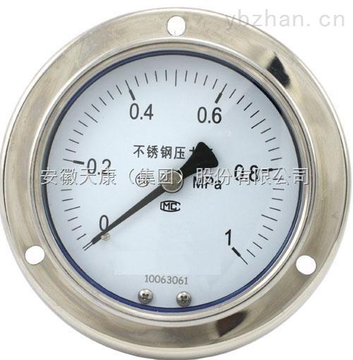 Y-160Z-B-Z-不锈钢压力表(轴向型)