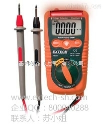 EXTECH DM220 万用表,DM220 非接触电压检测器的迷你袖珍万用表