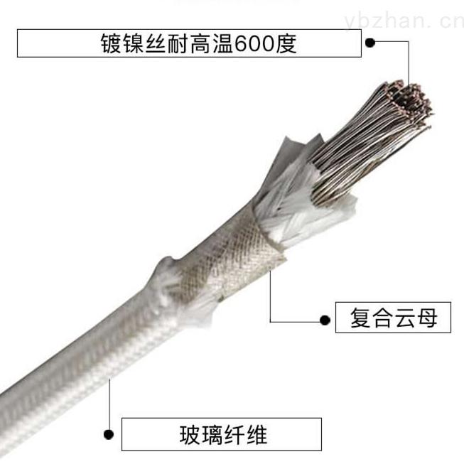 玻璃丝编织耐高温防火电缆 ABHB-1*120