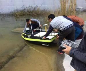 中海达智能无人测量船现场演绎水上测量