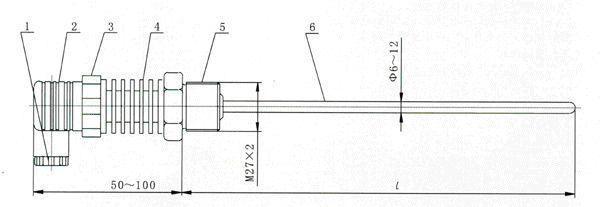 mct80s 小巧型温度变送器 代码 输入类型 p pt100热电阻 c cu50热电阻