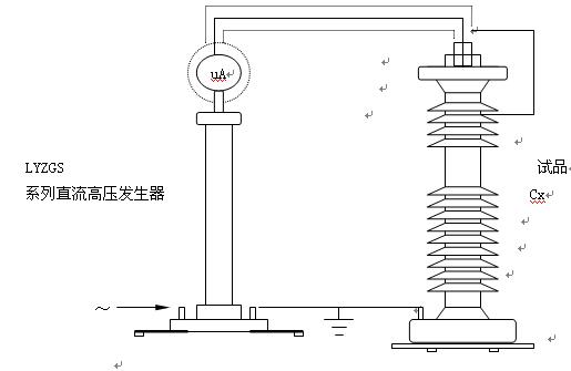 排除试品表面泄漏电流接线图