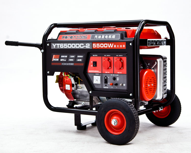新款带轮子手推5kw汽油发电机