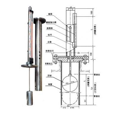 浦光仪表顶装磁翻板液位计工作原理