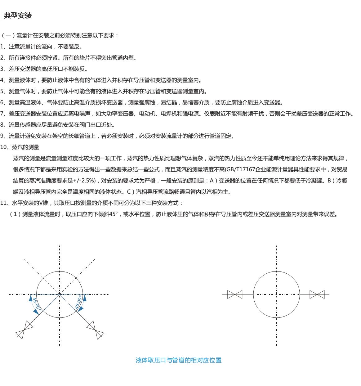 DN40差压式V锥流量计选型4