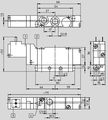 festo先导控制电磁阀meh-5/2-1/8-p-b