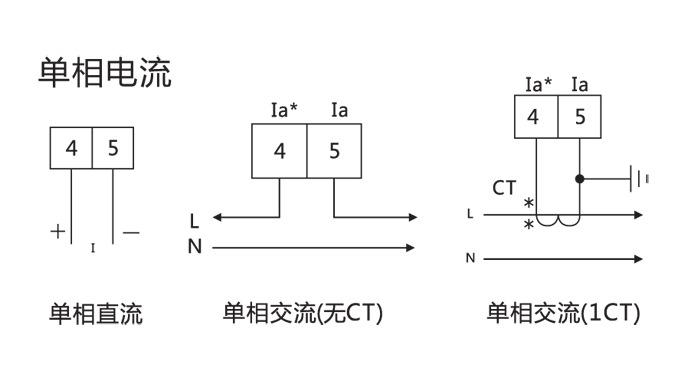 直流电流表接线图