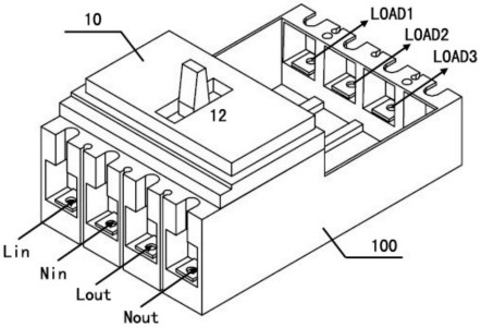 单相电能表的结构示意图